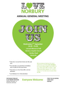 Love Norbury AGM 7th September 2016